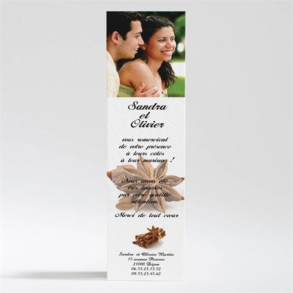 Remerciement mariage Etoiles anis réf.N20066