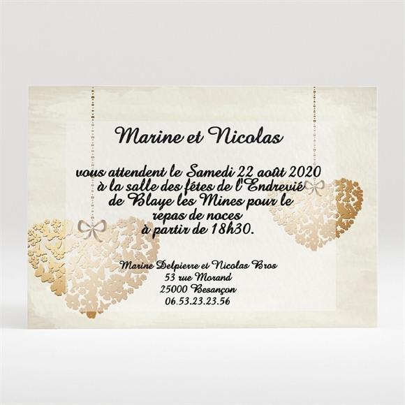Carton d'invitation mariage Perchés réf.N120118
