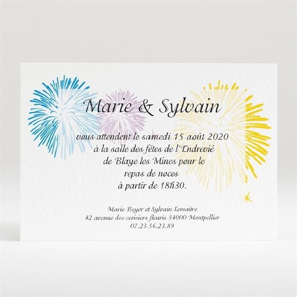 Carton d'invitation mariage C est la fete réf.N120121