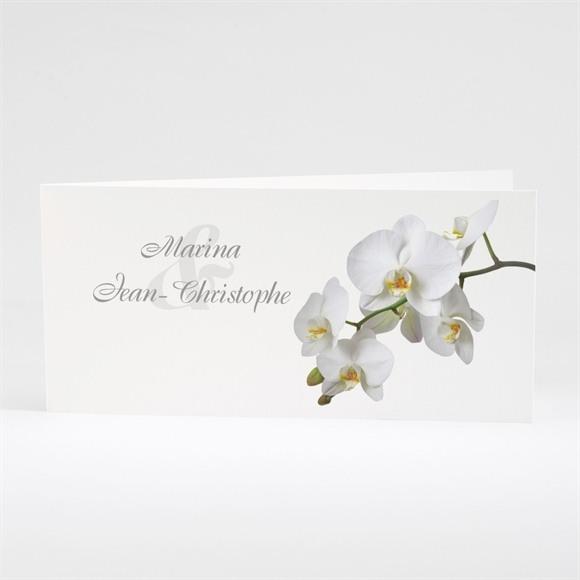Faire-part mariage Blanches orchidées réf.N43107