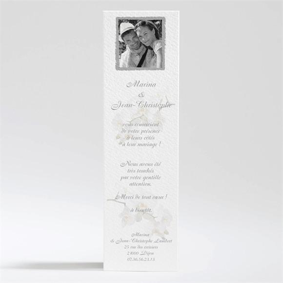 Remerciement mariage Blanches orchidées réf.N20071