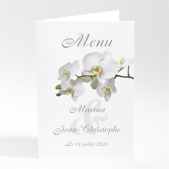 Menu mariage Blanches orchidées réf.N40175