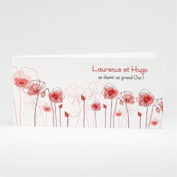Faire-part mariage Silhouettes fleuries réf.N43109