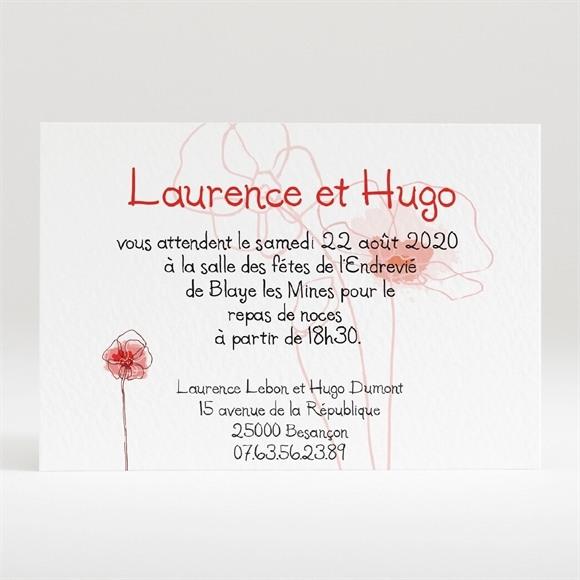 Carton d'invitation mariage Silhouettes fleuries réf.N120136