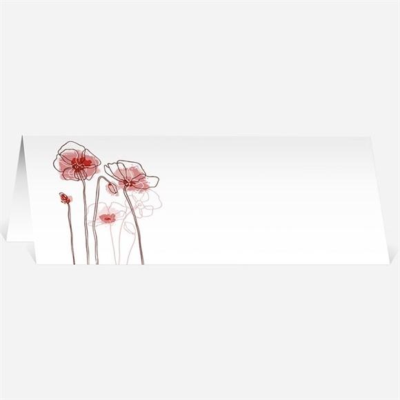 Marque-place mariage Silhouettes fleuries réf.N44057