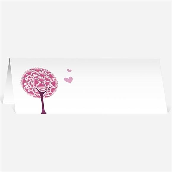 Marque-place mariage Oiseaux roses et violets réf.N44058