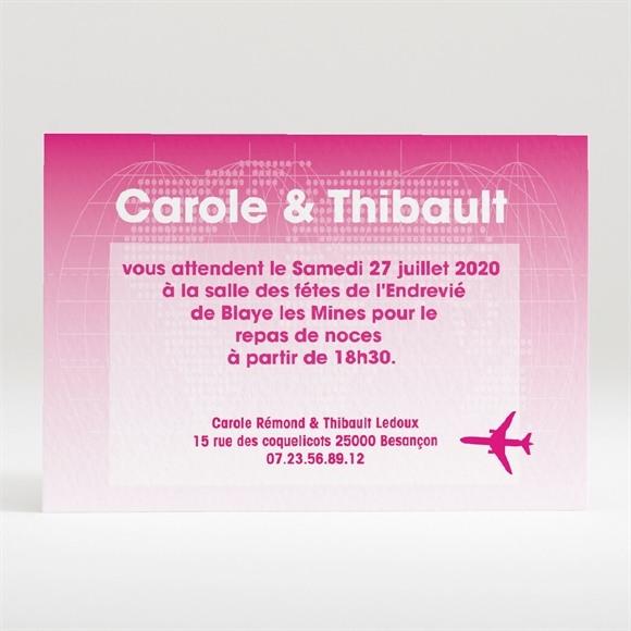 Carton d'invitation mariage Embarquement immédiat réf.N120138