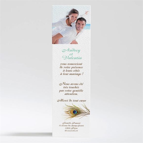 Remerciement mariage Plume enchantée réf.N20088
