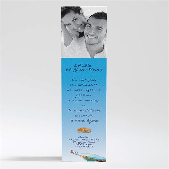 Remerciement mariage Une bouteille à la mer réf.N20079