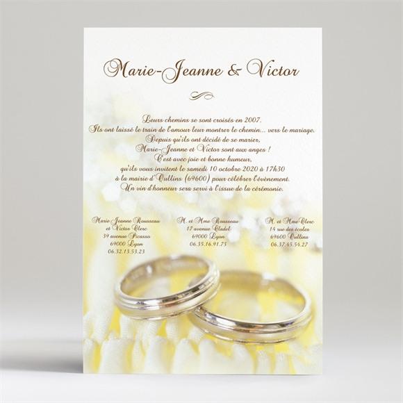 Faire-part mariage Alliances réf.N24009