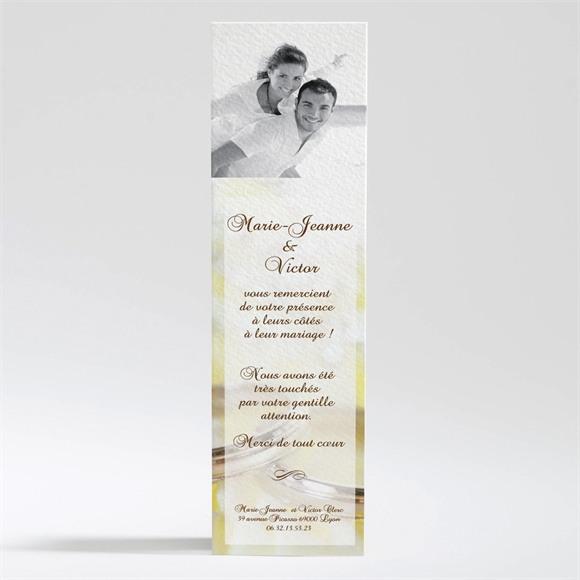 Remerciement mariage Alliances réf.N20081