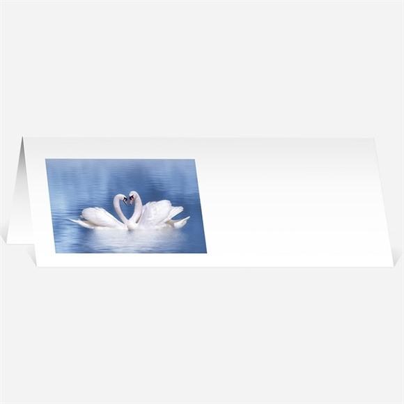 Marque-place mariage Deux cygnes charmants réf.N44055