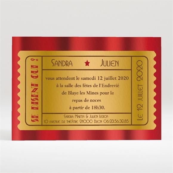 Carton d'invitation mariage Dans le cadre réf.N120119