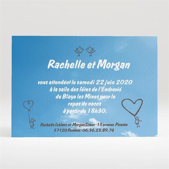 Carton d'invitation mariage le fil à linge mariage réf.N120140