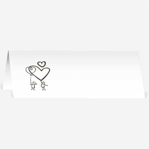 Marque-place mariage le fil à linge mariage réf.N44061