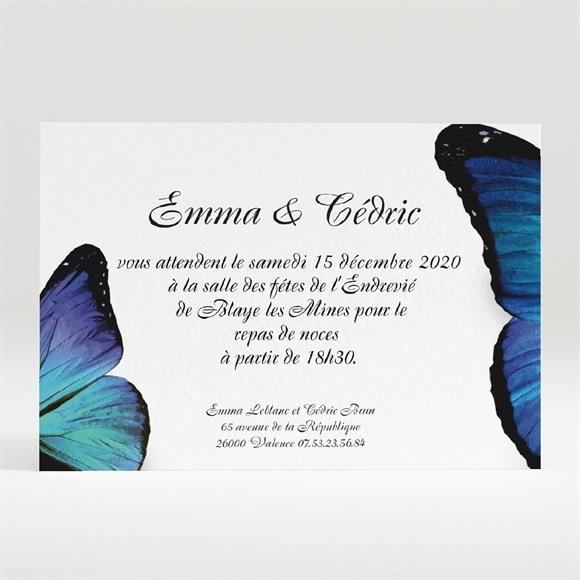 Carton d'invitation mariage Poétique et original réf.N120141