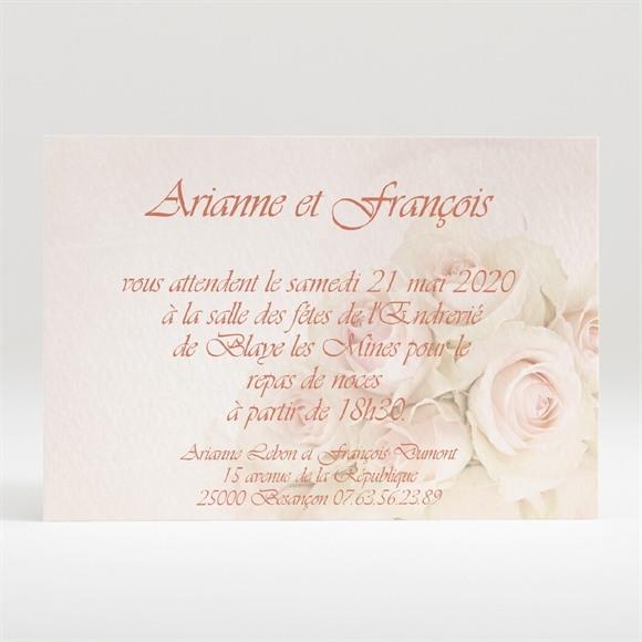 Carton d'invitation mariage Le bouquet réf.N120142