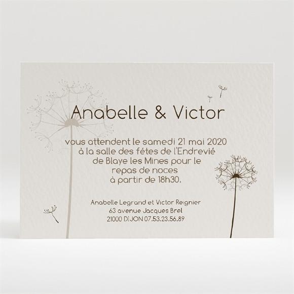 Carton d'invitation mariage Joli pissenlit réf.N120143