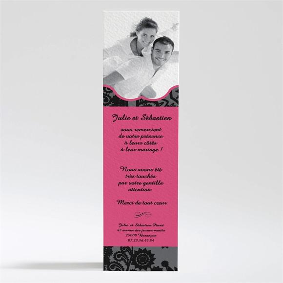 Remerciement mariage Cachemire noir et gris réf.N20094