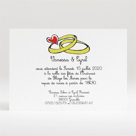 Carton d'invitation mariage Original et frais réf.N120148