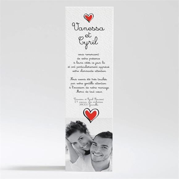 Remerciement mariage Original et frais réf.N20095