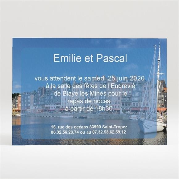 Carton d'invitation mariage Plus belle la Vie réf.N120149
