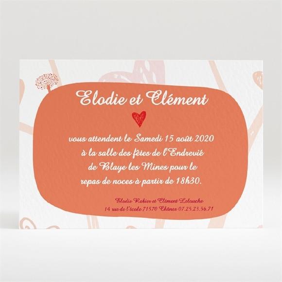 Carton d'invitation mariage l'Arbre de l'Amour réf.N120150