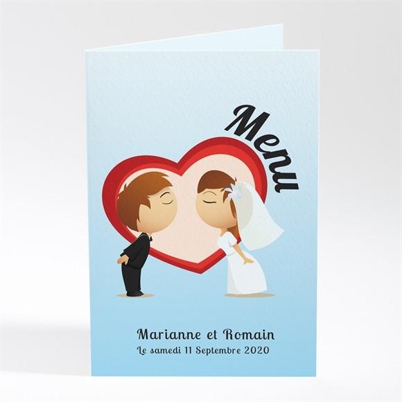 Menu mariage Illustrations mariés comiques réf.N401105