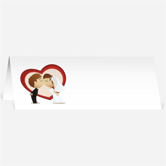 Marque-place mariage Illustrations mariés comiques réf.N44072