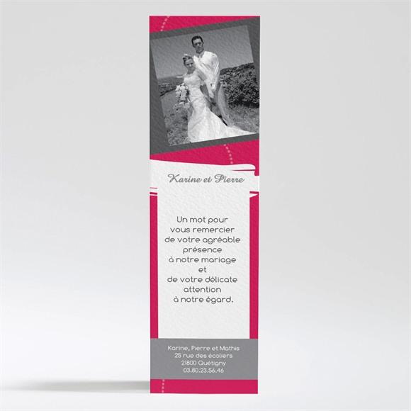 Remerciement mariage Framboise et gris photo réf.N200100