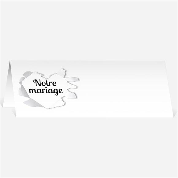 Marque-place mariage Jolies rayures violettes réf.N44075