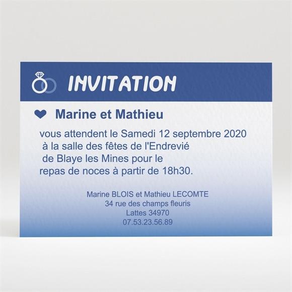 Carton d'invitation mariage Nous deux pour la Vie réf.N120161