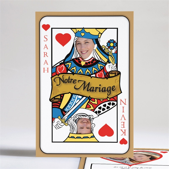Faire-part mariage Atout Coeur mariage réf.N24108