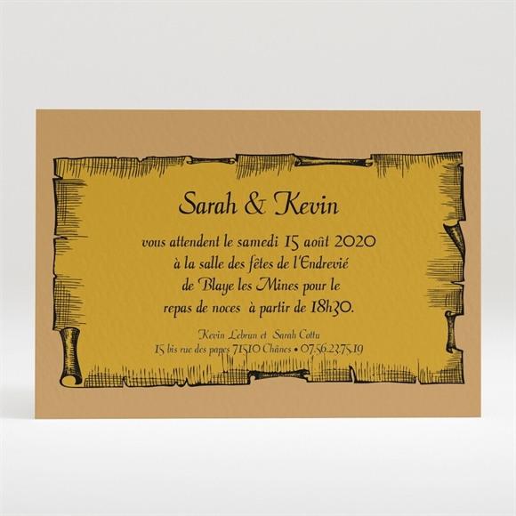 Carton d'invitation mariage Atout Coeur mariage réf.N120157