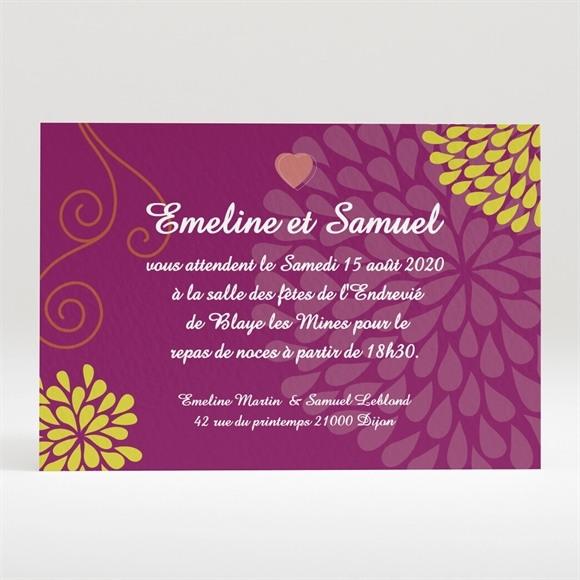 Carton d'invitation mariage Jolie Champêtre romantique réf.N120156