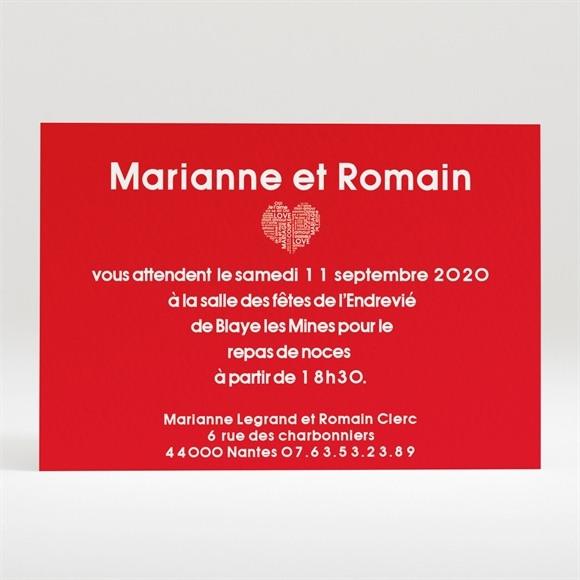 Carton d'invitation mariage Empreintes réf.N120155