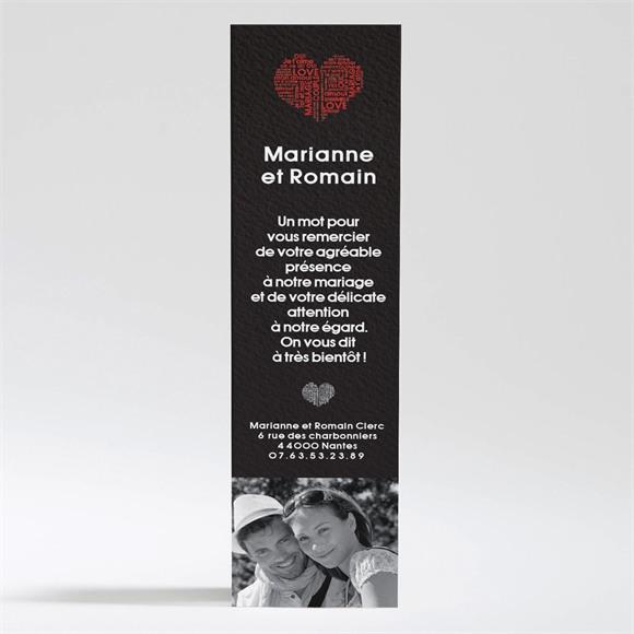 Remerciement mariage Empreintes réf.N200102