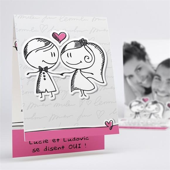 Faire-part mariage Amoureux illustrés réf.N50120