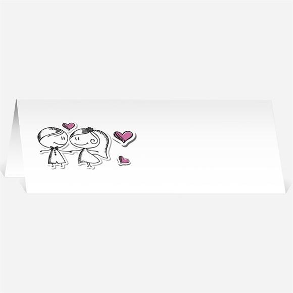 Marque-place mariage Amoureux illustrés réf.N44073