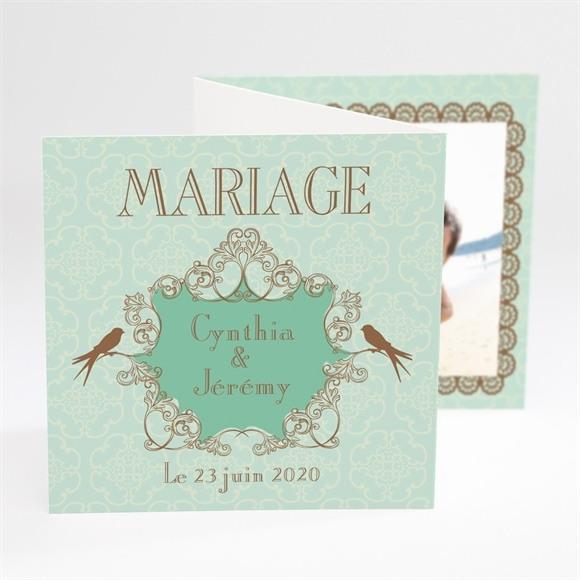 Faire-part mariage Mariage baroque et fantaisie réf.N81001