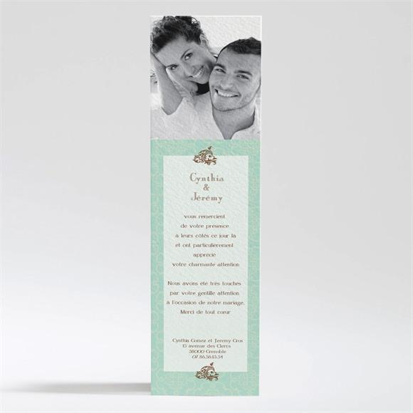 Remerciement mariage Mariage baroque et fantaisie réf.N200107