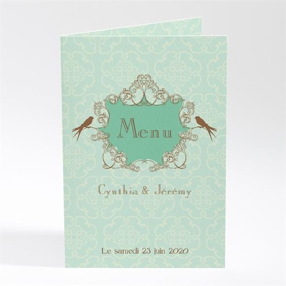 Menu mariage Mariage baroque et fantaisie réf.N401114