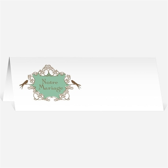 Marque-place mariage Mariage baroque et fantaisie réf.N44080