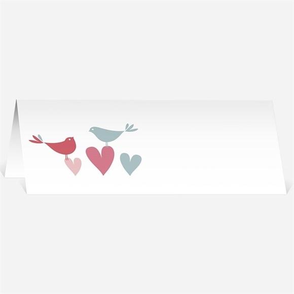 Marque-place mariage Des oiseaux rose et orange réf.N44079