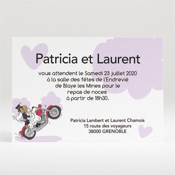 Carton d'invitation mariage Sur la route du bonheur réf.N120164