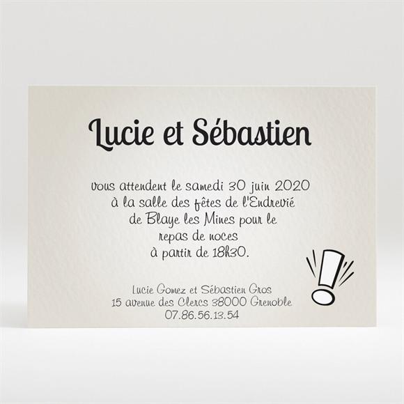 Carton d'invitation mariage Notre Gâteau réf.N120166
