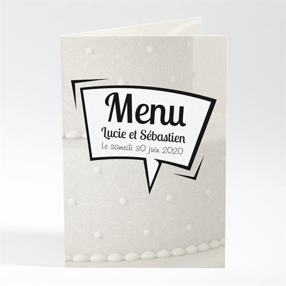 Menu mariage Notre Gâteau réf.N401125