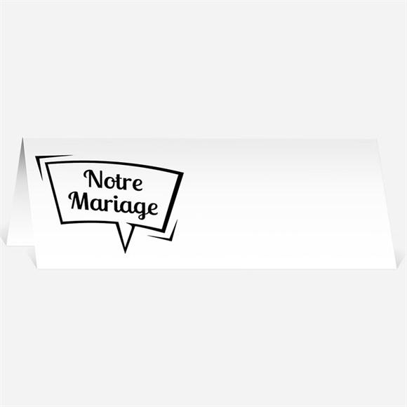Marque-place mariage Notre Gâteau réf.N44090