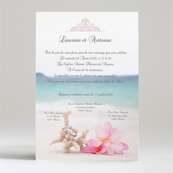 Faire-part mariage Coquillages et crustacés réf.N24014