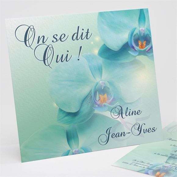 Faire-part mariage Orchidées bleues réf.N31122